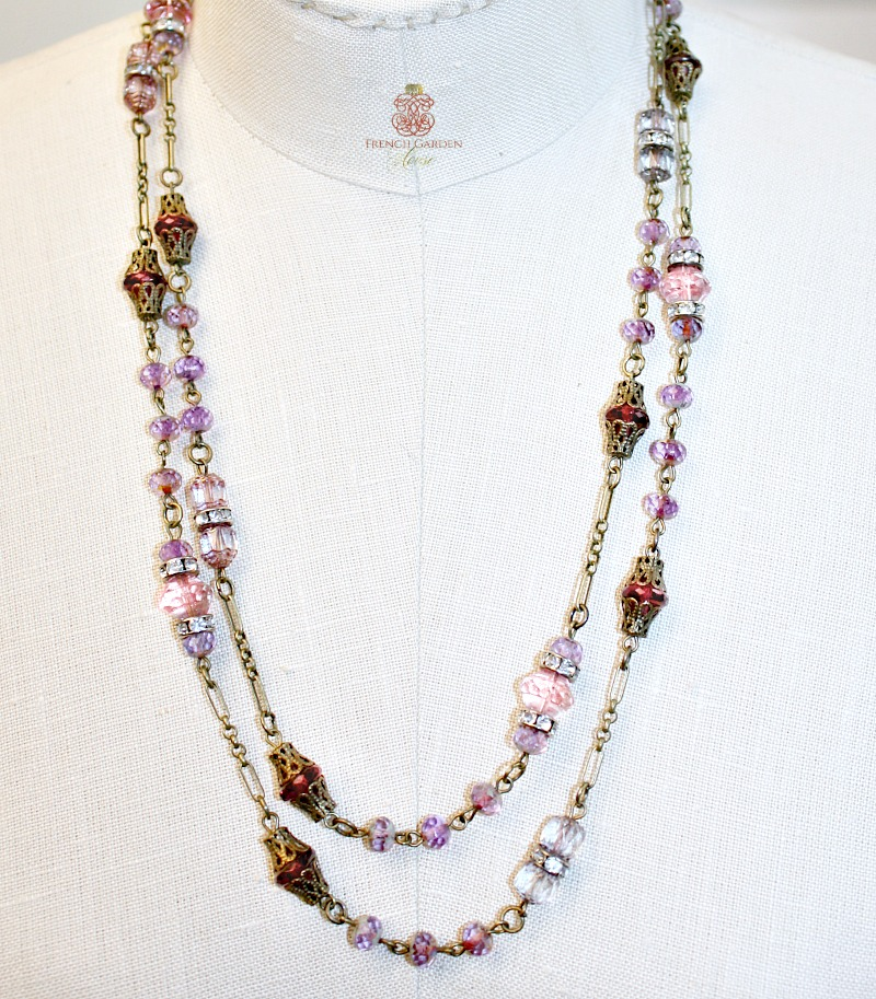 Georgia Hecht Lavender Rose Wrap Necklace