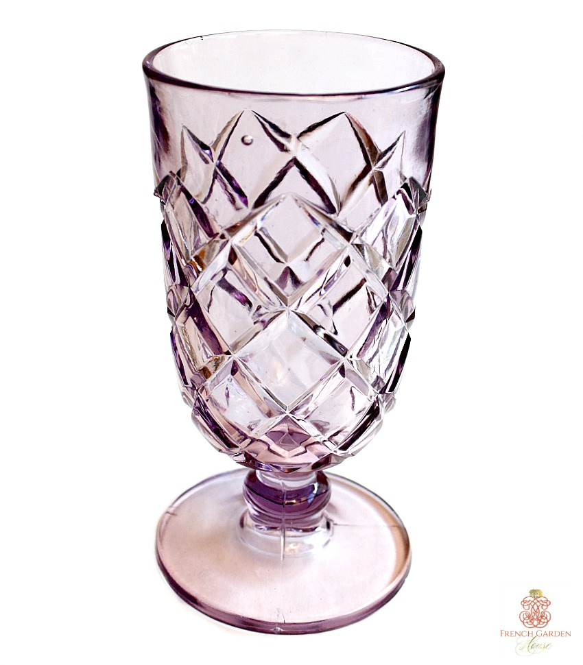 Antique Lavender Purple Glass Celery Vase