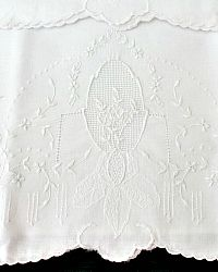 Exquisite Appenzell Type Embroidered Pillow Case Pair