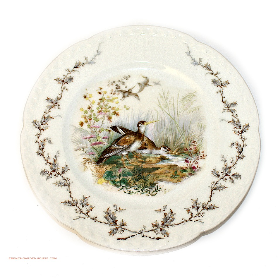 19th Century French Haviland Limoges Game Bird Plate