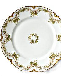 Antique French Haviland et Cie Limoges Berried Ivy Plate
