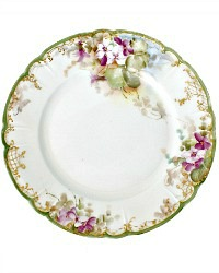 19th Century Hand Painted Limoges Violets Cabinet Plate