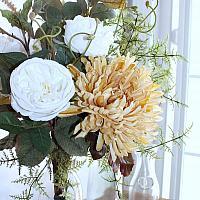 Wild Blanc Rose Floral Arrangement