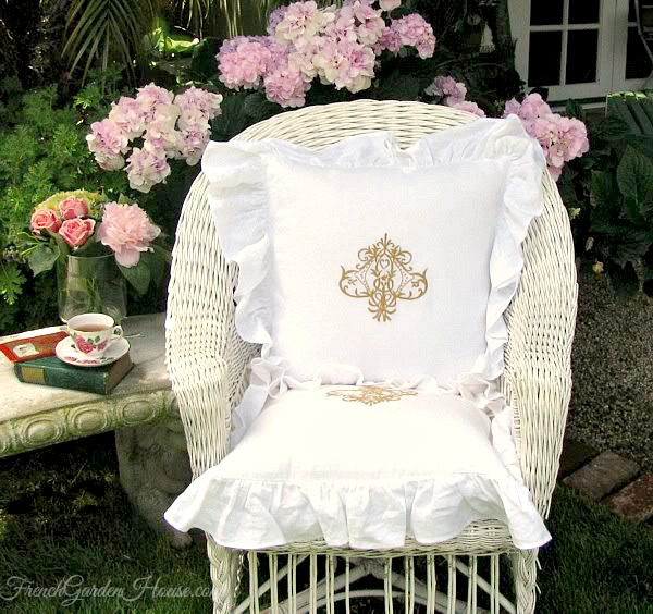 Belgian Linen White Ruffled Romance Pillow Slip