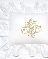 Belgian Linen White Ruffled Romance Pillow Slip