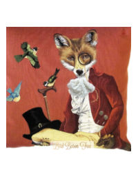 Lord Baron Fox Pillow Cover