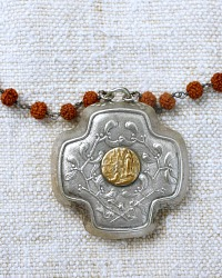 Antique French Lourdes Madonna Necklace