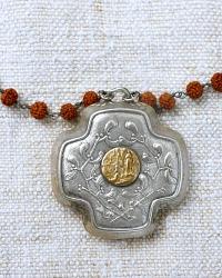 Georgia Hecht Antique French Lourdes Madonna Necklace