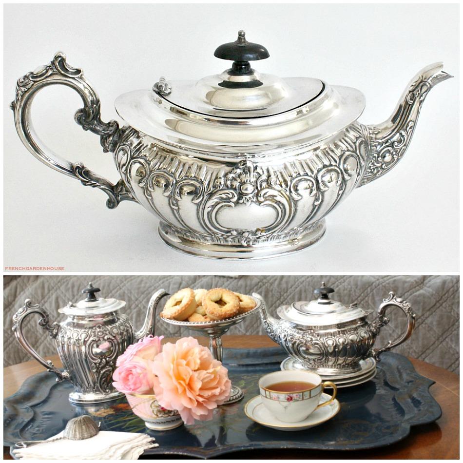 Elegant English Sheffield Silver Plated Tea Pot