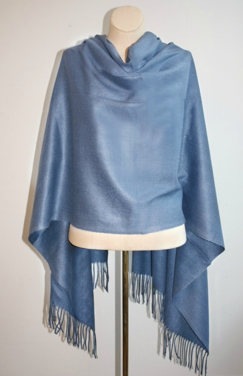Luxurious Cashmere Wrap French Country Blue