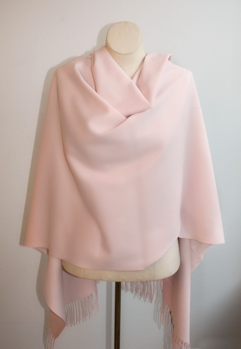 Luxurious Cashmere Wrap Parisian Rose