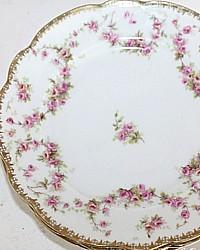 Antique Moritz ZdeKauer MZ Austria Cake Plates Bridal Rose Set 4