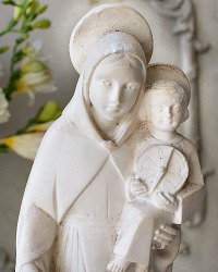 Large French 1920's Art Deco Virgin Mary and Child Statue