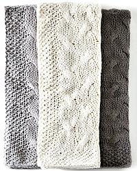 PomPom at Home Malibu Cableknit Throw Blanket