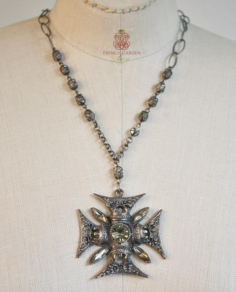 Florenza Maltese Cross Pendant Necklace