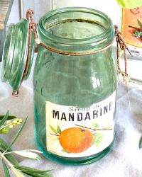 Vintage French Canning Jar Mandarine