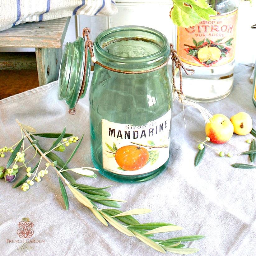 Vintage French Canning Jar Mandarine
