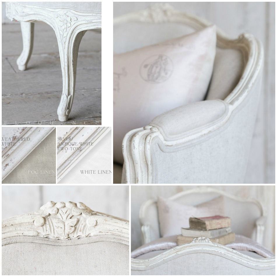 eloquence marie antoinette chaise weathered white. Black Bedroom Furniture Sets. Home Design Ideas