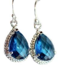 Marquise Blue Drop Earrings