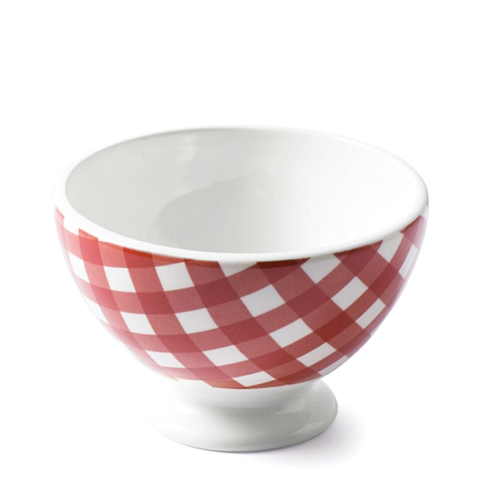 French Country Check Cafe au Lait Bowl