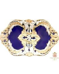 Antique Meissen Cobalt Blue & Gold Porcelain Leuteritz Bowl