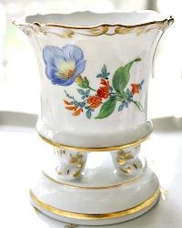 Meissen Hand Painted Scattered Flowers Petite Vase