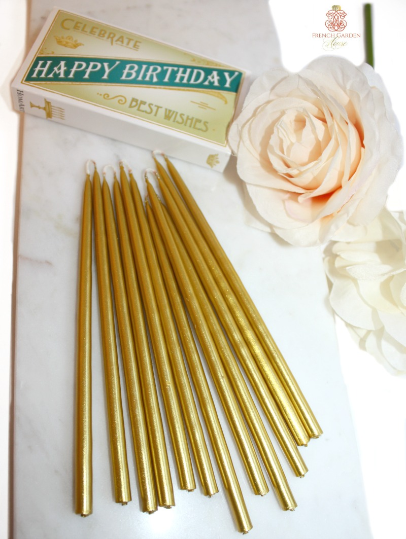 Metallic Gold Celebration Candles Gift Set