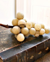 Decorative Italian Sculpture  Alabaster Golden Grapes