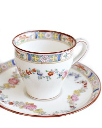 Antique Minton Rose Garland Porcelain Demitasse Set