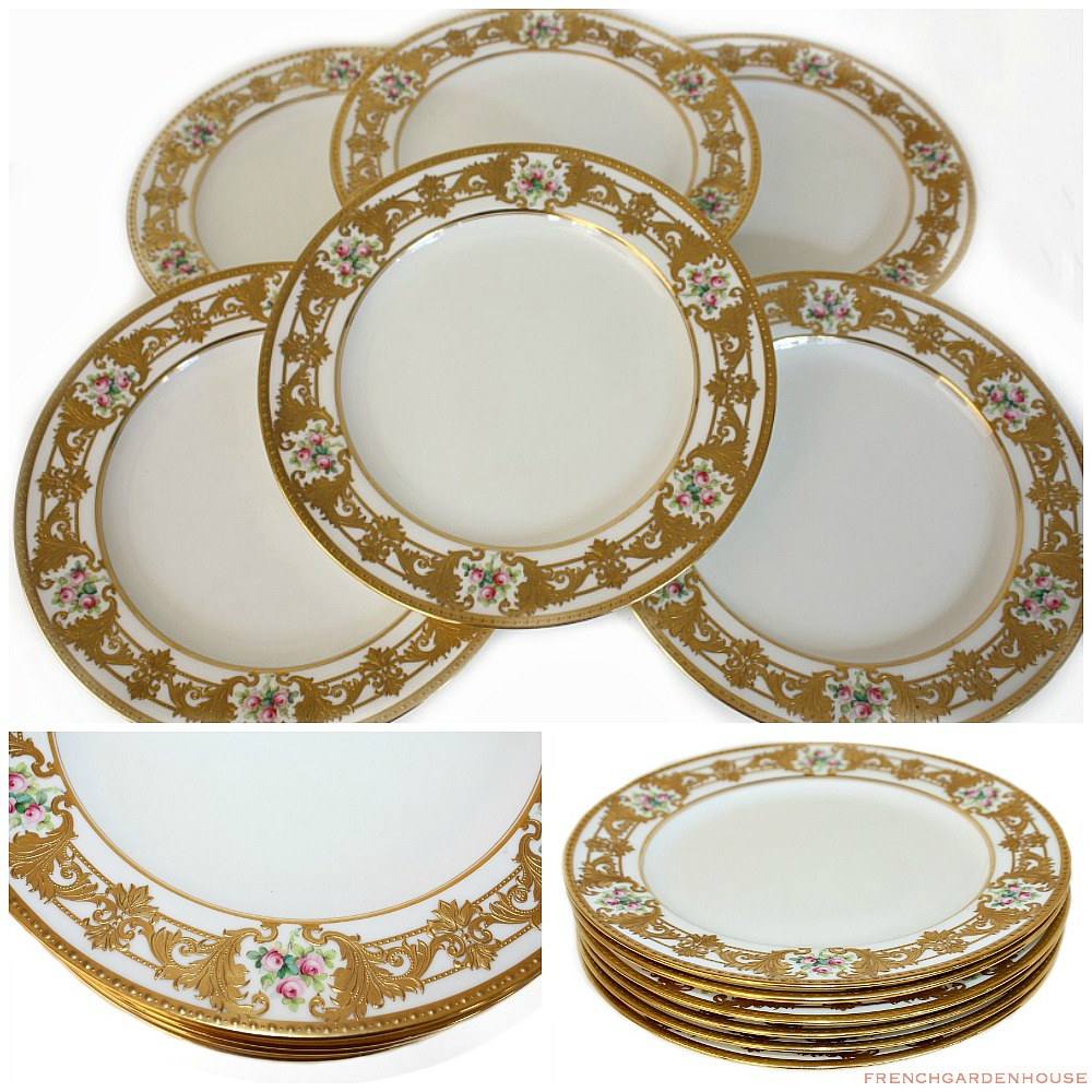 sc 1 st  French Garden House : antique dinner plate - pezcame.com