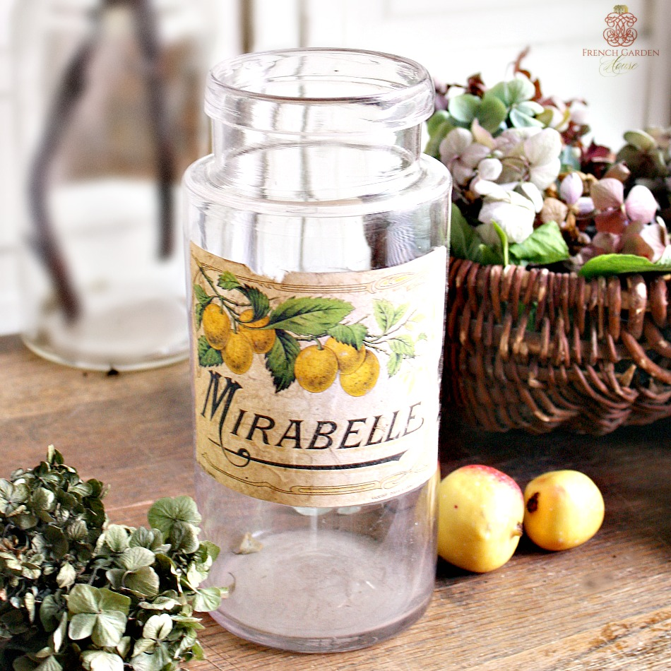 Antique French Glass Canning Jar Mirabelle