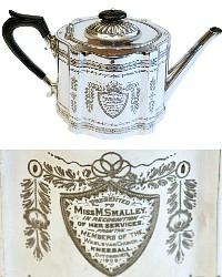Antique English Engraved Tea Pot 1906