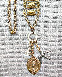 Tara Gasparian Vintage Metals Virgin Mary Necklace