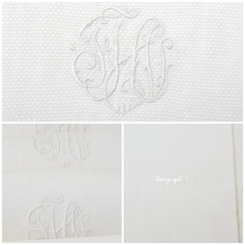 Antique Pique White Guest Towels Set of 5 FHI