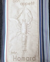 Brittany Lobster Drying Tea Towel from France