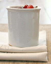 Antique French Gres Stoneware Confiture Pot