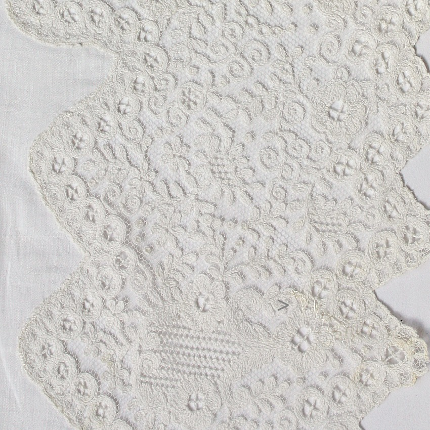 Antique French Needle Lace Handkerchief