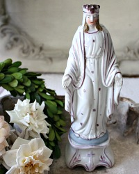 19th Century French Old Paris Lustreware Madonna Virgin Mary