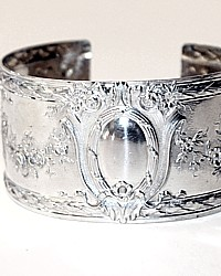 Karen Lindner Antique French Sterling PUIFORCAT Cuff Bracelet Ribbon