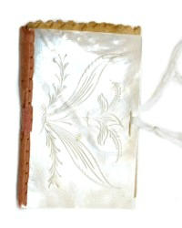 Antique French Palais Royale Mother of Pearl Needle Case