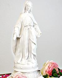 Antique French Parian Bisque Porcelain Madonna Medium