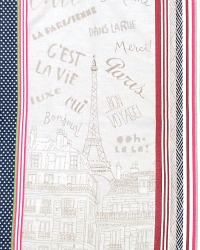 Springtime in Paris Drying Tea Towel from France