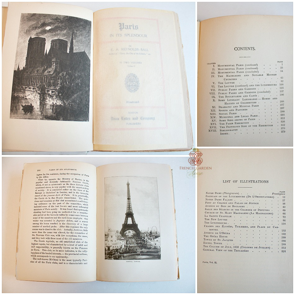 Antique 1st Edition PARIS In It's Splendor Vol. II