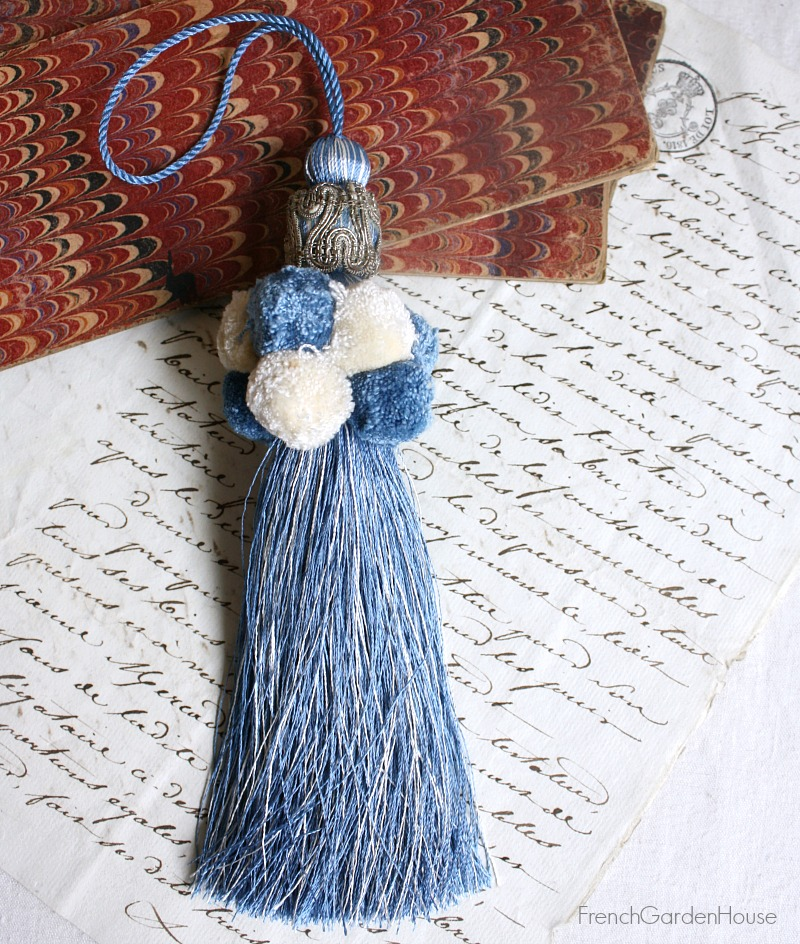 Parisian Atelier Blue and Silver Tassel