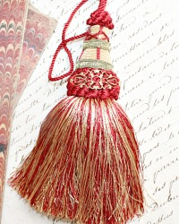 Parisian Atelier Cream Bordeaux Red Gold Tassel