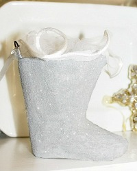 Parisian Atelier Pere Noel Glitter Candy Container Boot