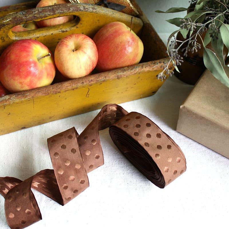 Parisian Bonbon de Chocolat French Wired Ribbon