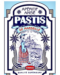 French Pastis Canvas Cotton Tea Towel