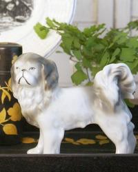 Vintage Large Pekingese Porcelain Dog Figure