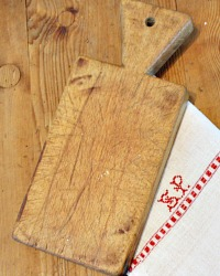 Antique French Rare Small Size Cutting Board